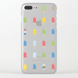 Popsicle - Bright Random #609 Clear iPhone Case