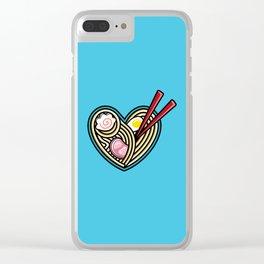 Love Ramen Clear iPhone Case