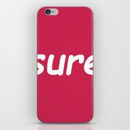 sure: pink iPhone Skin