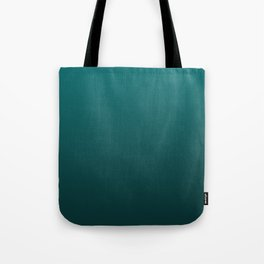 Dark Forest Green Ombre Color Lightening Pattern Tote Bag