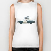 blues brothers Biker Tanks featuring The Blues Brothers Bluesmobile 1/3 by Staermose