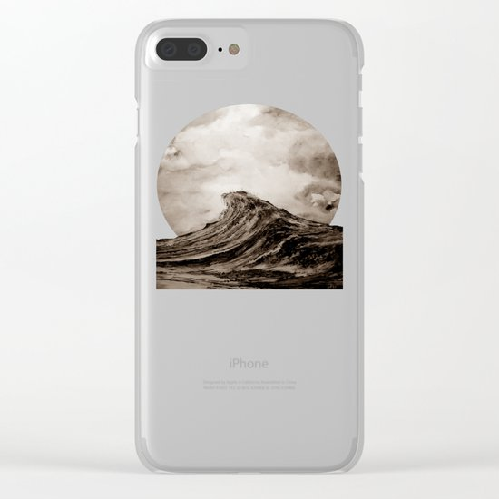 The WAVE - sepia Clear iPhone Case