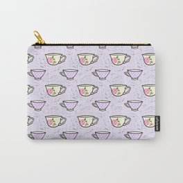 Rose Tea Cup Pattern Carry-All Pouch