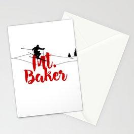 Ski at Mt. Baker Stationery Cards