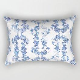 Chinese Paper Cut - blue Rectangular Pillow