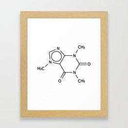 Molecular Structure of Caffeine Framed Art Print