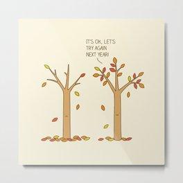 encouraging tree Metal Print