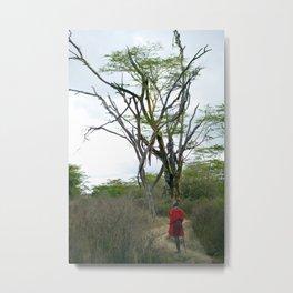 Masai Warrior Metal Print