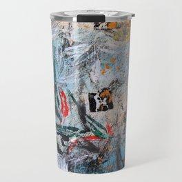 AUTUMN SHUFFLE - GUM TREE LEAVES - Original abstract painting by HSIN LIN / HSIN LIN ART Travel Mug