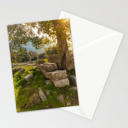 ruins of ancient city of Messena, Peloponnese Stationery Cards
