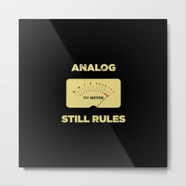 Analog VU Volume Unit Meter Sound Engineer Retro Metal Print