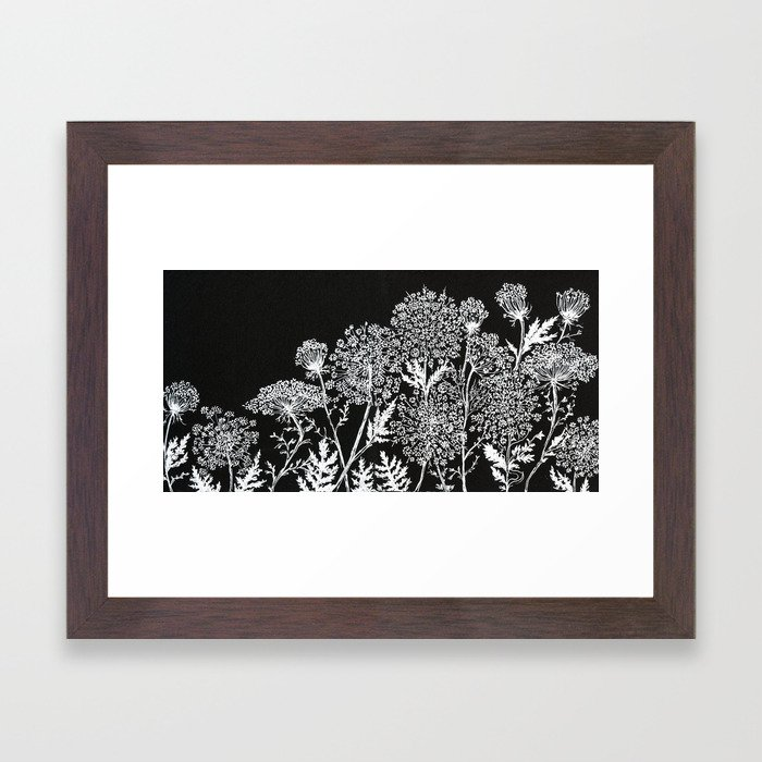 queen anne\'s lace Framed Art Print by alisaburke | Society6