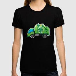 Clover Truck St Patricks Day Full Green Shamrock T-shirt