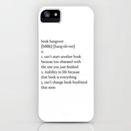 book hangover iPhone Case