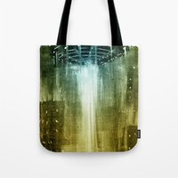 ufo Tote Bags featuring UFO by Bakal Evgeny