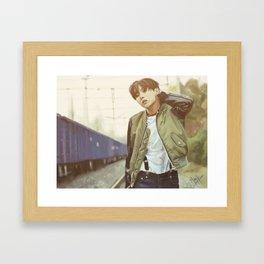 Run JHope Framed Art Print