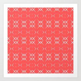 Coral:  Pattern No. 3 Art Print