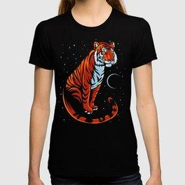 Tribal tiger long tail T-shirt