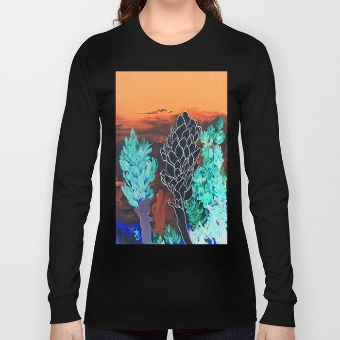DESERT NIGHT Alpinia Purpurata Long Sleeve T-shirt