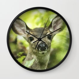 Portrait of a Young Deer Wall Clock