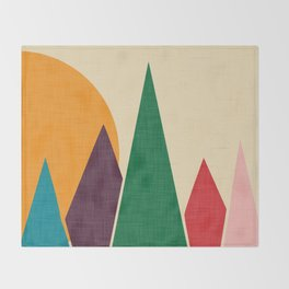 solar mountain #homedecor #midcentury Throw Blanket