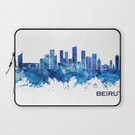 Beirut Lebanon Skyline Blue Laptop Sleeve