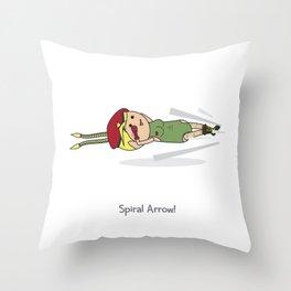 Spiral Arrow Throw Pillow