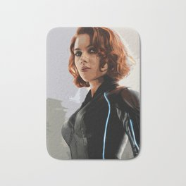 Black Widow Scarlett Johansson Film Illustration Movie Pop Art Home Decor Superhero Comic Book Print Bath Mat