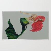 mermaid Area & Throw Rugs featuring mermaid by ArtSchool