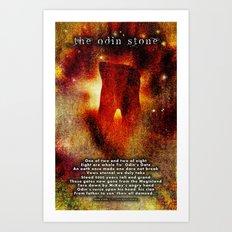 The Odin Stone Art Print