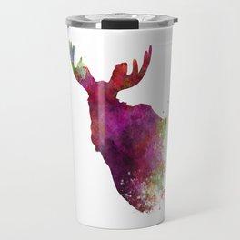 Moose 05 in watercolor Travel Mug