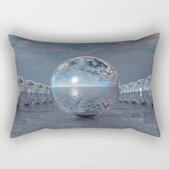 Spheres In The Sun Rectangular Pillow