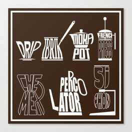 TYPOCOFFEE Canvas Print