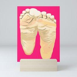 FEET I (Pink) Mini Art Print