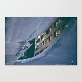 Building in the Puddle Canvas Print
