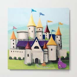 Princess Castle by the Water Metal Print