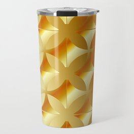 Texture with gold flowers Travel Mug