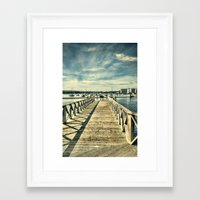 boardwalk empire Framed Art Prints featuring Boardwalk by Steve Purnell