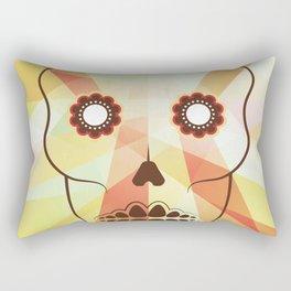 Mexican sugar skull (guacamole version) Rectangular Pillow