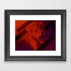 ROARING LIKE A LION Framed Art Print