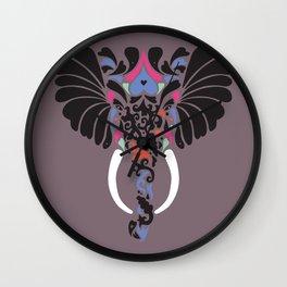 Asian Elephant Wall Clock