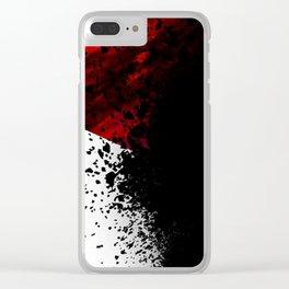 blacknwhitenredallover Clear iPhone Case