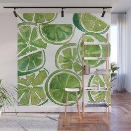Watercolor LIMES Wall Mural
