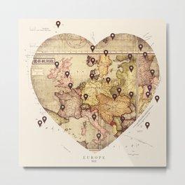 Love to Travel Metal Print