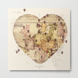 Love to Travel Metal Print
