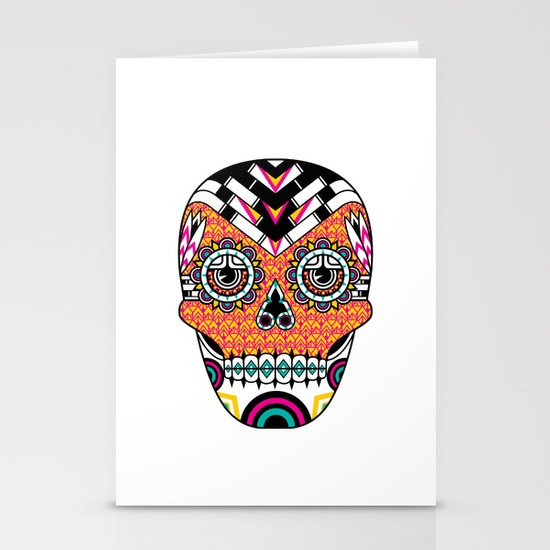 Deco Skull Stationery Cards