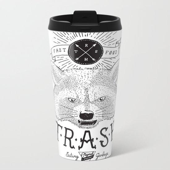 Eating trash Metal Travel Mug