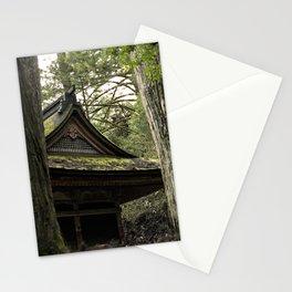 Shrine in Okunoin cemetery of Koyasan, Japan 001 Stationery Cards