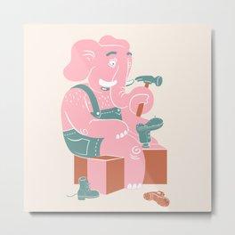 The shoemaker elephant Metal Print