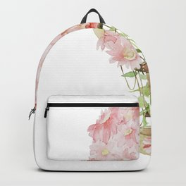 Floral Air Balloon Backpack